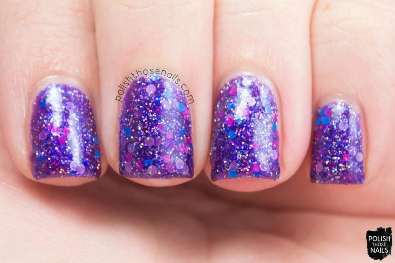 itty bitty bikini, purple, glitter, nails, nail polish, indie polish, model city polish, polish those nails