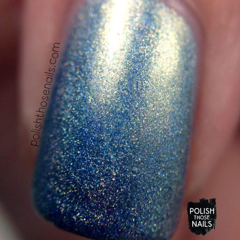 3.5 degrees, holo, blue, nails, nail polish, indie polish, parallax polish, polish those nails, the secrets of the 7 seas, macro
