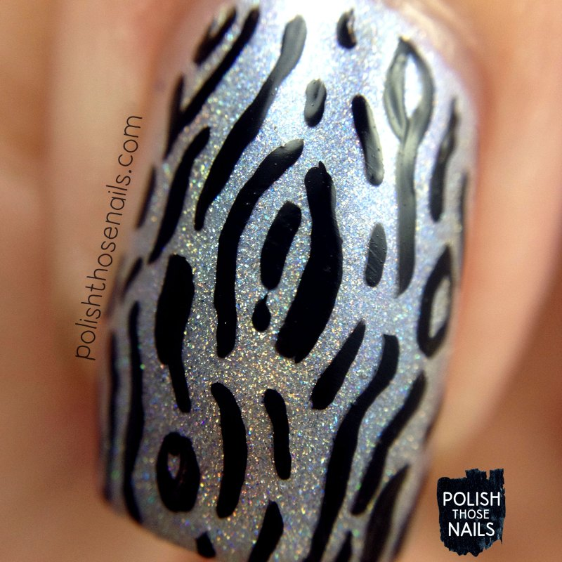 arctic ice, holo, pattern, nails, nail art, nail polish, indie polish, polish those nails, parallax polish, macro