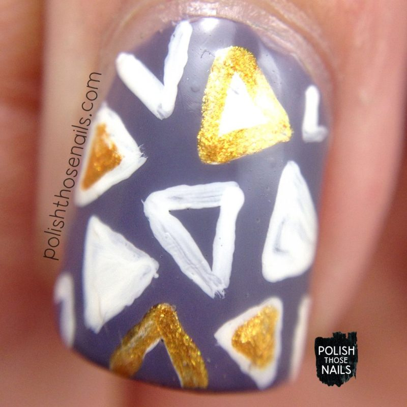 nails, nail art, triangles, geometric, purple, polish those nails, macro