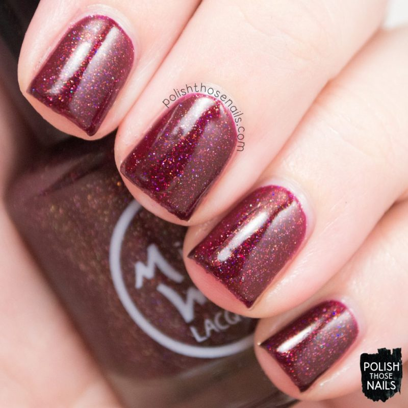 swatch, deep red, click three times, nails, nail polish, indie polish, midwest lacquer, polish those nails, red