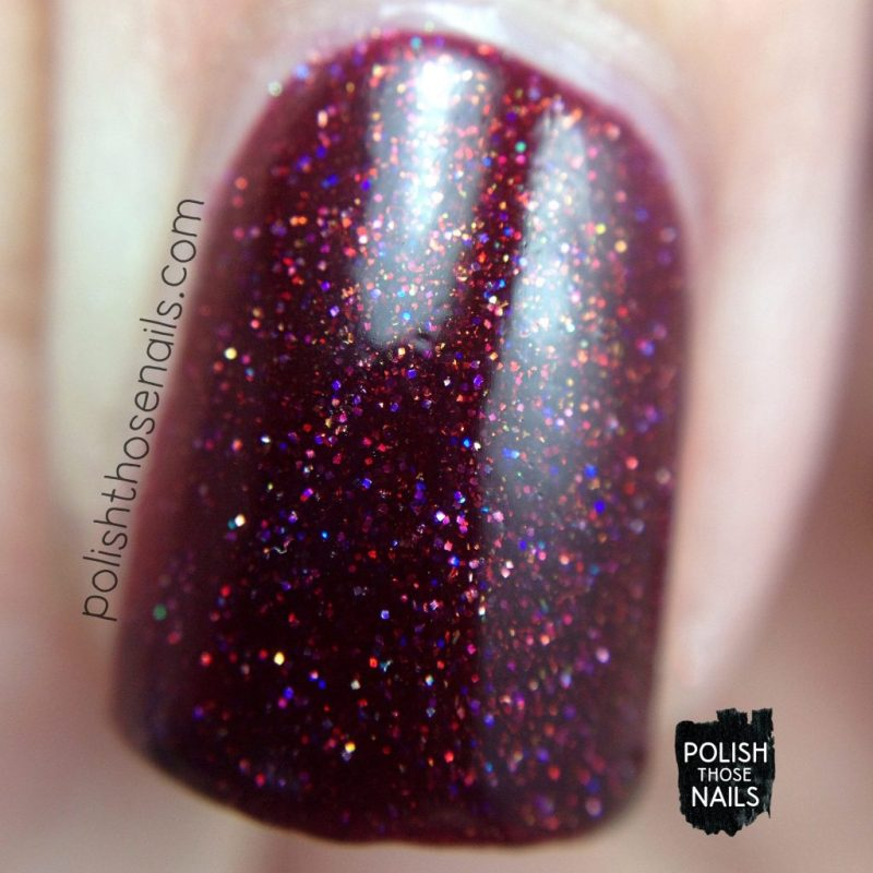 swatch, deep red, click three times, nails, nail polish, indie polish, midwest lacquer, polish those nails, red, macro