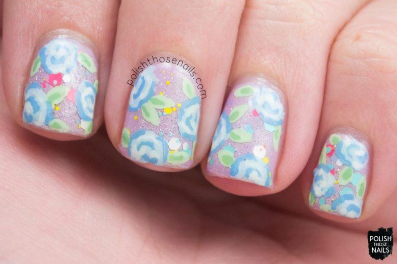 nails, nail art, nail polish, pastels, roses, indie polish, polish those nails