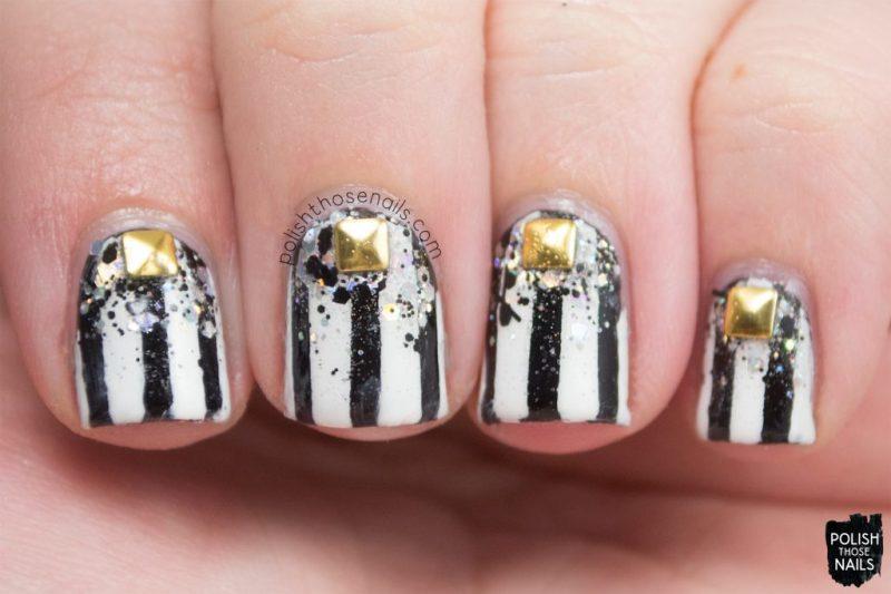 nail art, nail polish, nails, stripes, glitter, studs, polish those nails,