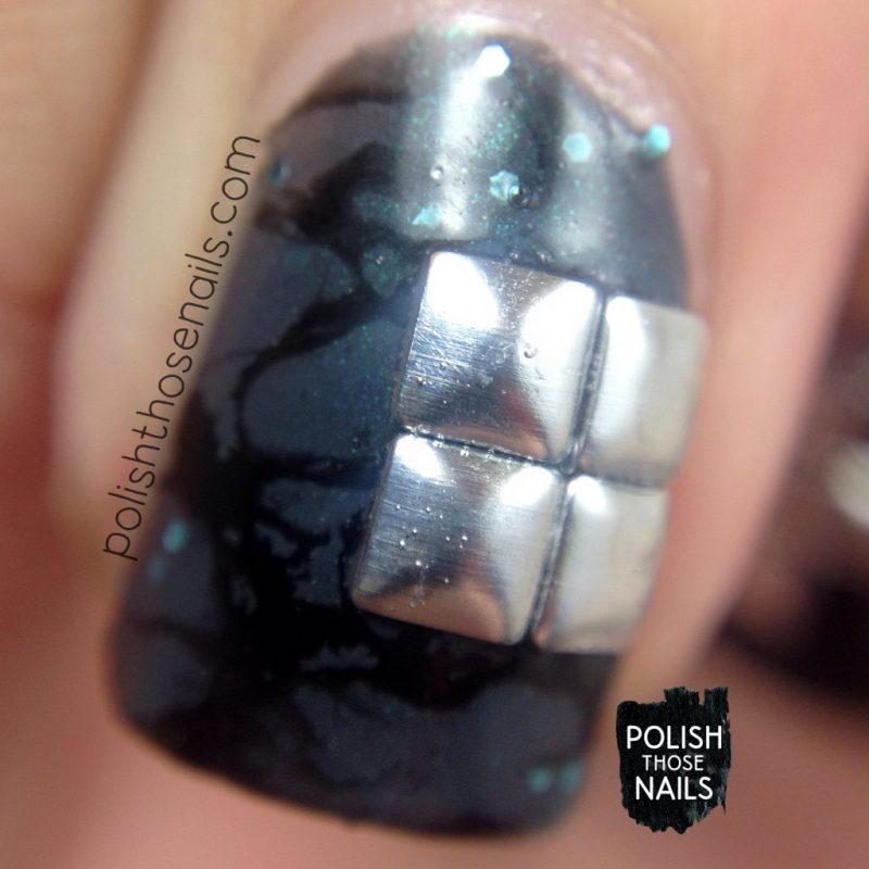 nails, nail art, nail polish, studs, water spotted, polish those nails, grey, macro