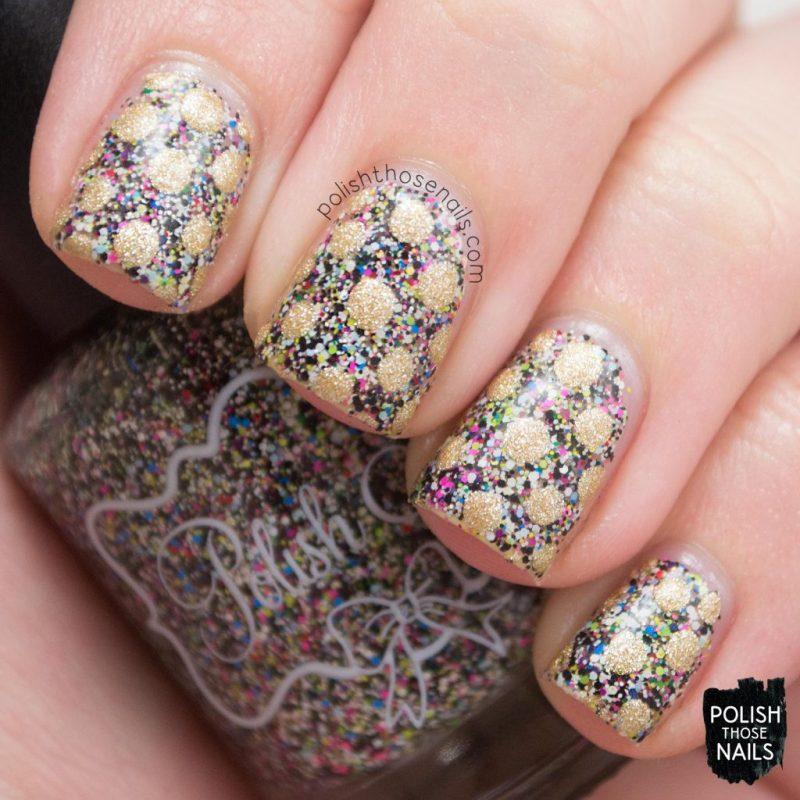 Nail Art, Polka Dots, Behind The Scenes, Glitter, Multicolor, Polish Those Nails, Polish 'M, Indie Polish