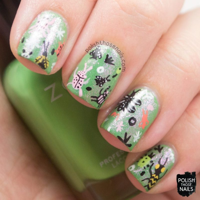 nails, nail art, nail polish, insects, pattern, polish those nails