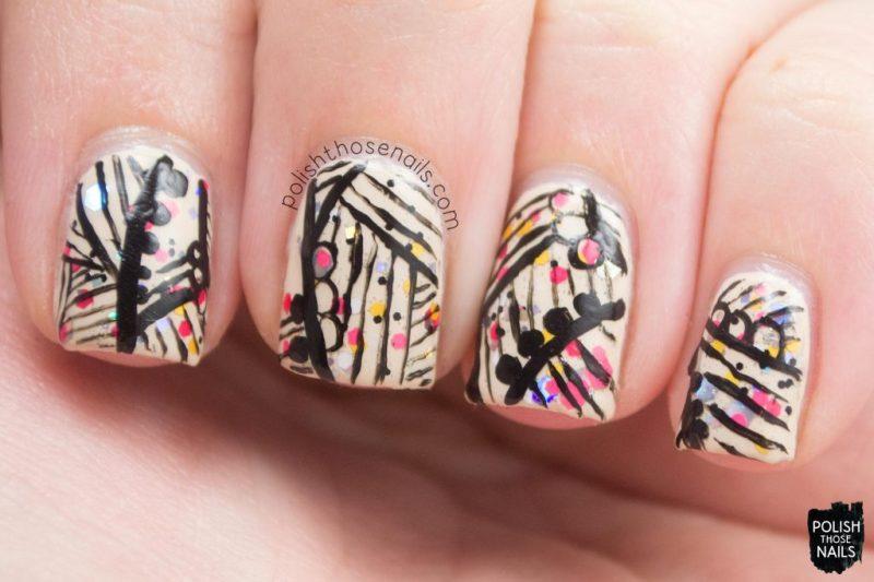 hello dab-ling, glitter, nail art, love angeline, polish those nails, indie polish