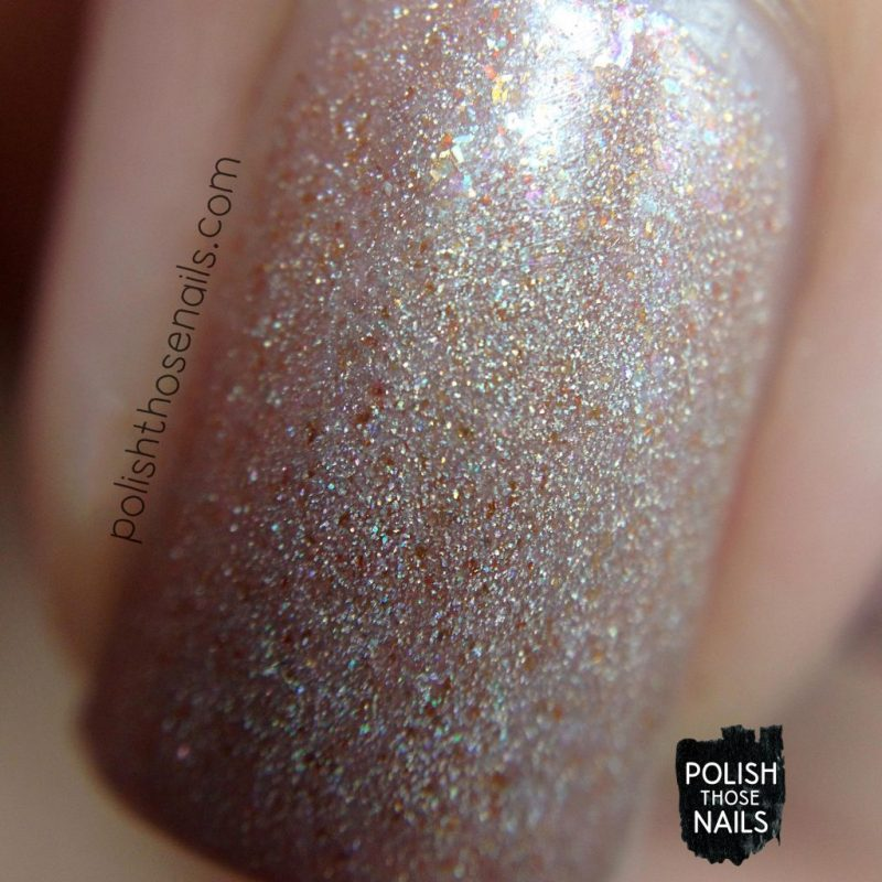 sand castles, neutral, shimmer, swatch, love angeline, polish those nails, indie polish, macro