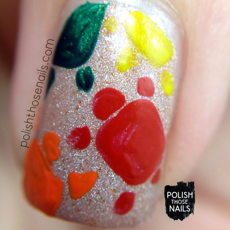 sand castles, turtles, nail art, shimmer, neutral, love angeline, polish those nails, indie polish, macro