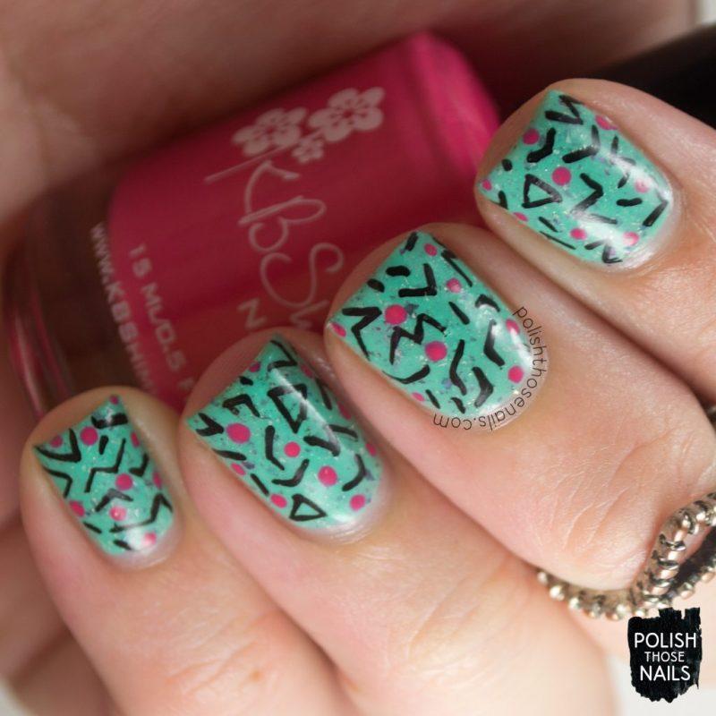 nails, nail art, nail polish, 80s, pattern, polish those nails, indie polish