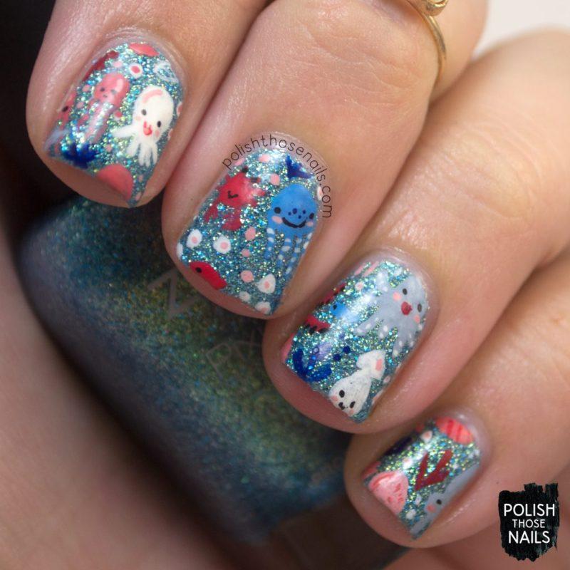 nails, nail art, nail polish, sea animals, polish those nails, zoya bay