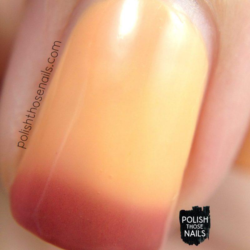 auburn, thermal, orange, nails, nail polish, indie polish, swatch, damn nail polish, polish those nails, summer sunset series, macro