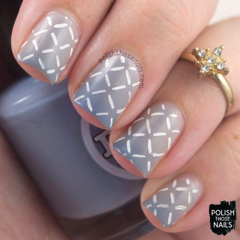 cerulean skies, blue, pattern, nails, nail polish, nail art, indie polish, thermal, polish those nails, dam nail polish