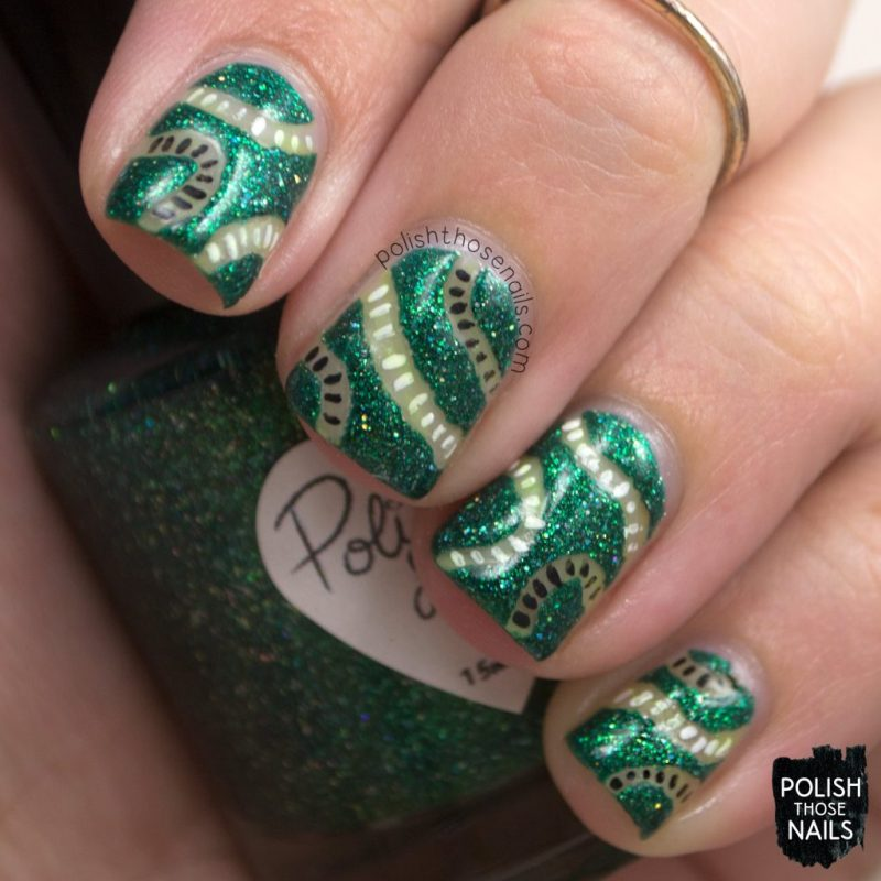 nails, nail art, nail polish, green, indie polish, polish those nails,