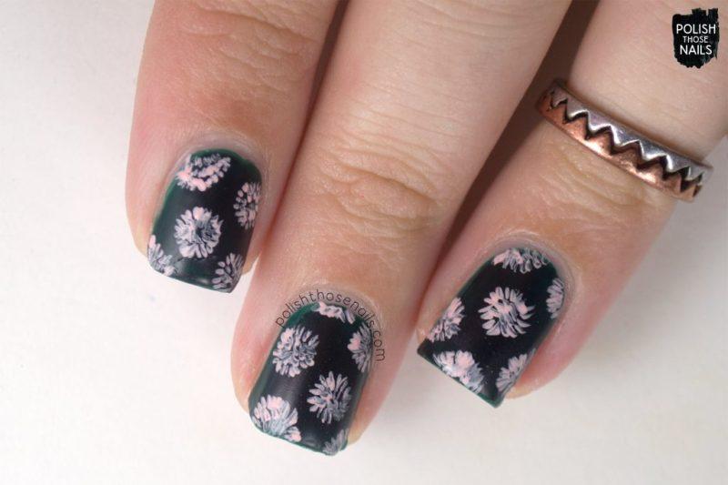 emerald city, floral, nail art, green, nails, nail polish, indie polish, love angeline, polish those nails,