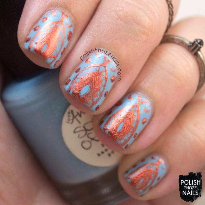 sons of adam, blue, nail art, nails, nail polish, indie polish, polish those nails, love angeline, shimmer