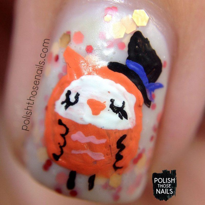 nails, nail art, nail polish, owls, polish those nails, glitter, macro