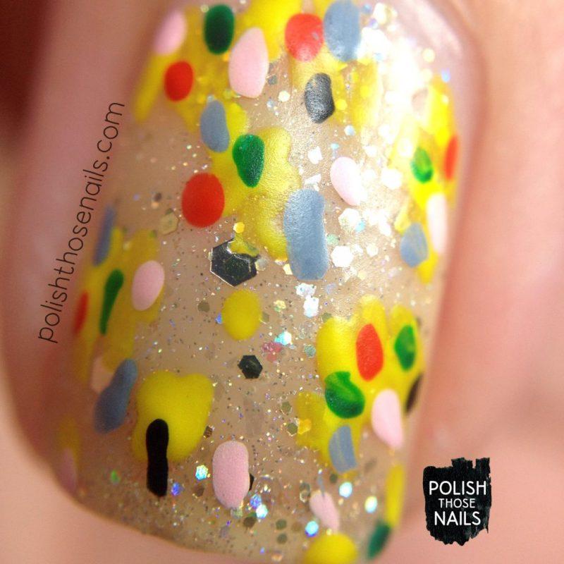 nails, nail art, nail polish, indie polish, negative space, polish those nails, glitter, macro