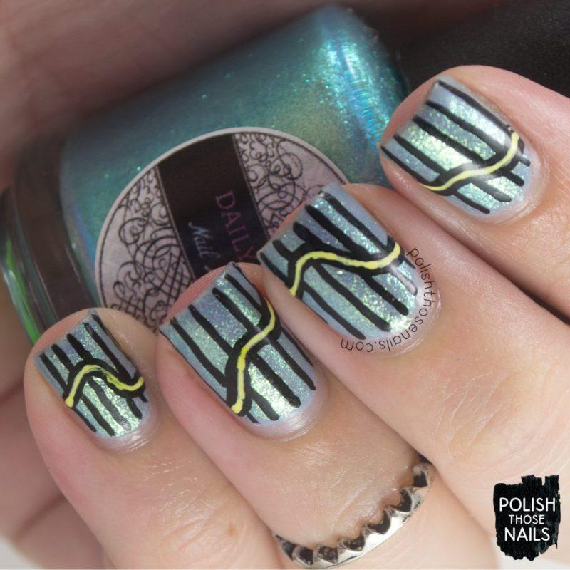 nails, nail art, nail polish, stripes, polish those nails, iridescent