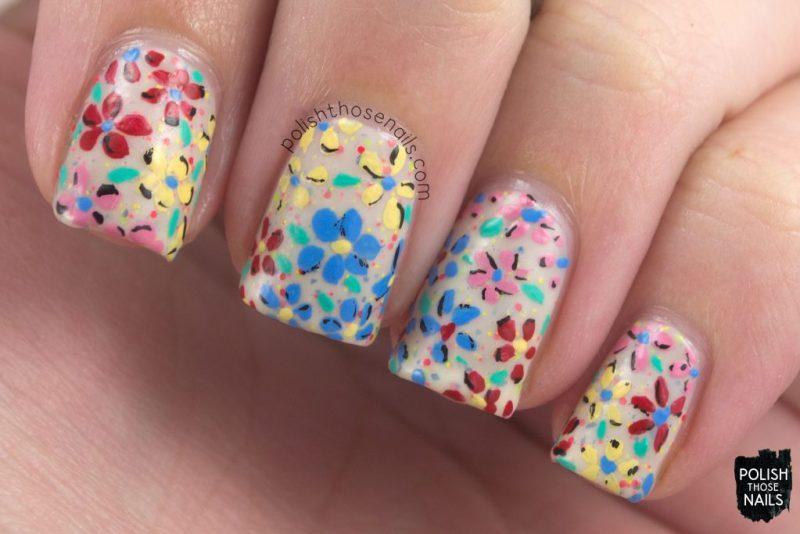 nails, nail art, nail polish, indie polish, florals, flowers, polish those nails