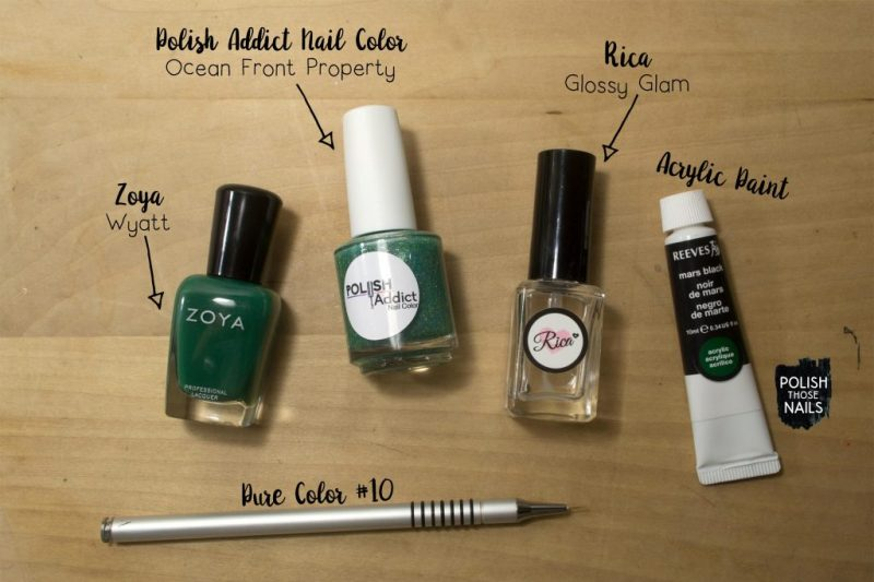 green-sparkly-black-blob-nail-art-bottle-shot