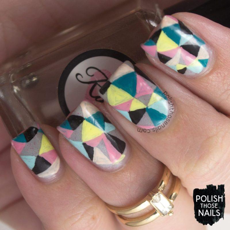 nails, nail art, nail polish, geometric, triangles, polish those nails