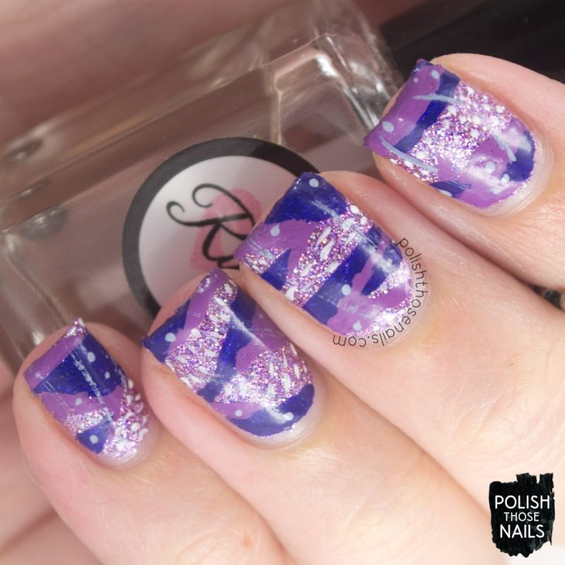 purple, nails, nail art, nail polish, glitter, indie polish, polish those nails