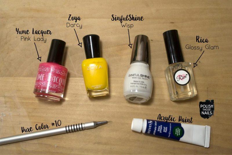 small-pink-yellow-half-moon-white-blue-pattern-nail-art-bottle-shot