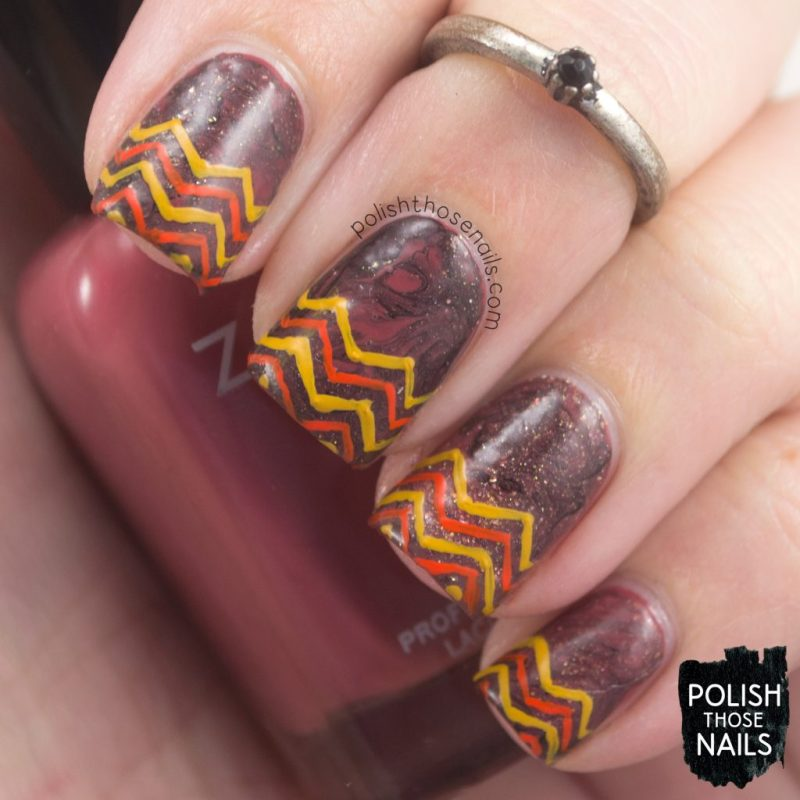 nails, nail art, nail polish, zig zags, autumn, smoosh, polish those nails
