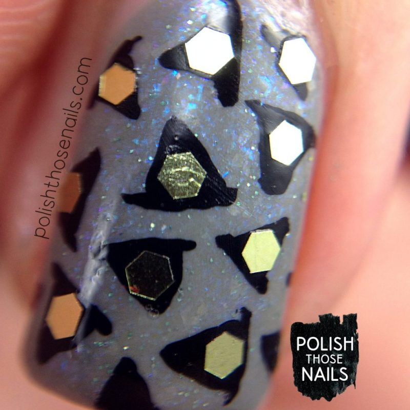 nails, nail art, nail polish, grey, indie polish, polish those nails, witch hats, macro