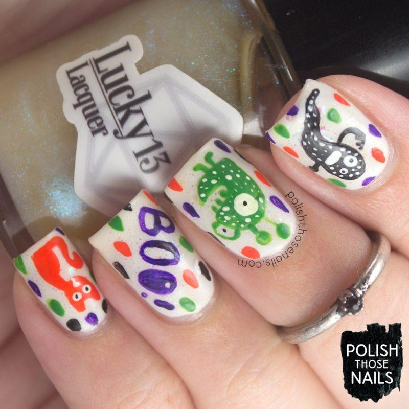 nails, nail art, nail polish, halloween, creatures, polish those nails