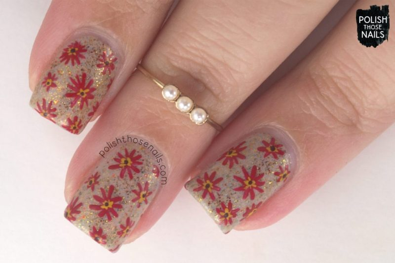 nails, nail polish, nail art, floral, autumn, polish those nails, floral