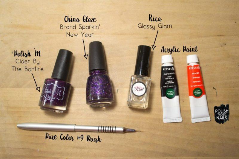 purple-glitter-orange-black-random-pattern-nail-art-bottle-shot