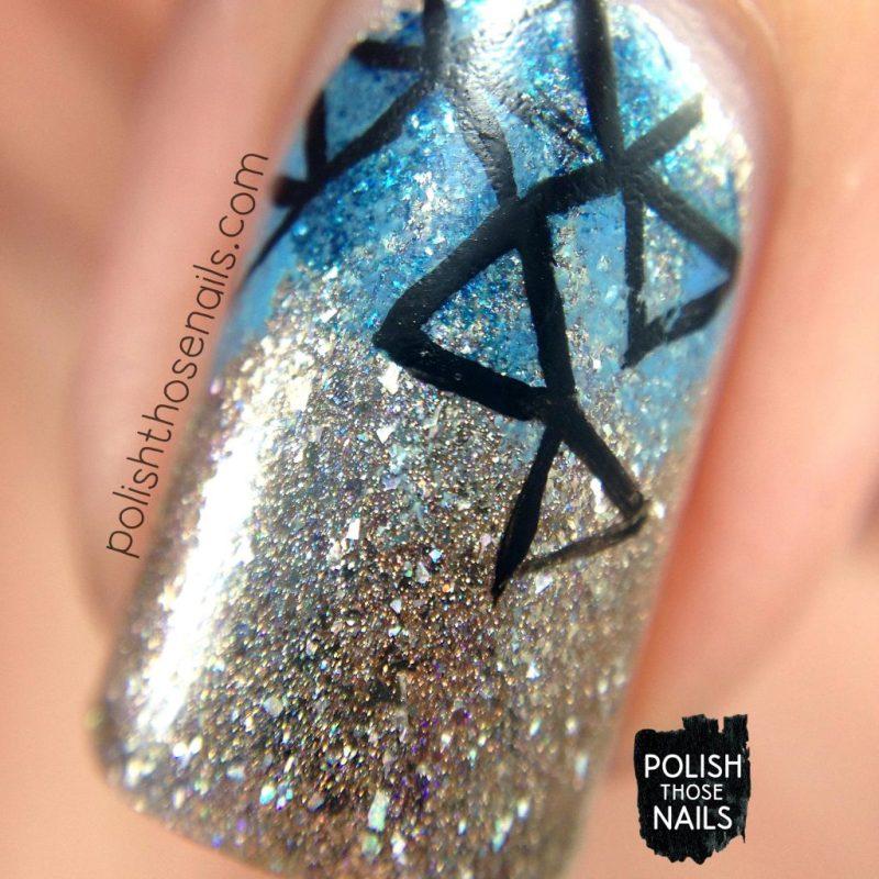 nails, nail art, nail polish, indie polish, silver, geometric, polish those nails, macro