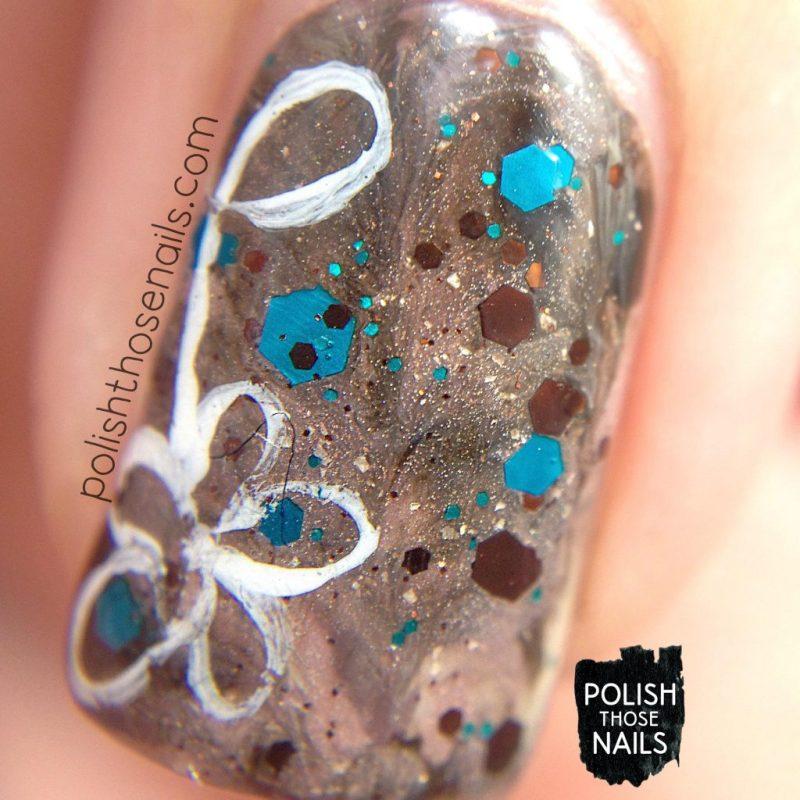 nails, nail art, nail polish, indie polish, coffee, polish those nails, glitter, macro