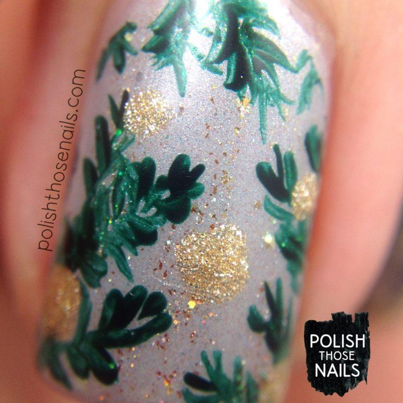 nails, nail art, nail polish, branches, polka dots, polish those nails, macro