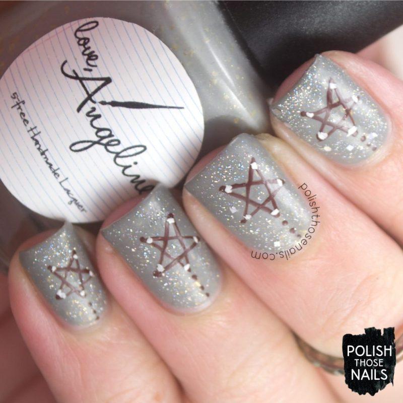 nails, nail art, nail polish, stars, polish those nails, indie polish, glitter