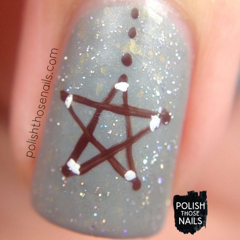 nails, nail art, nail polish, stars, polish those nails, indie polish, glitter, macro