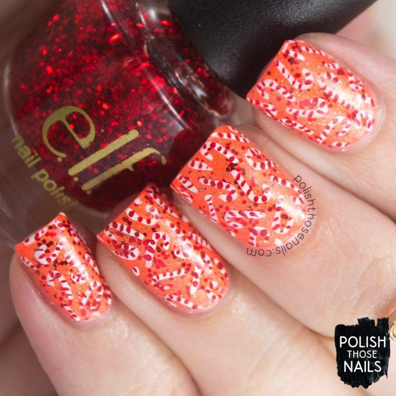 nails, nail art, nail polish, indie polish, candy canes, polish those nails