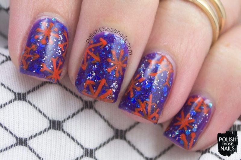 nails, nail art, nail polish, snowflakes, indie polish, polish those nails
