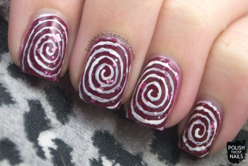 nails, nail art, nail polish, pinwheel, swirls, polish those nails, indie polish