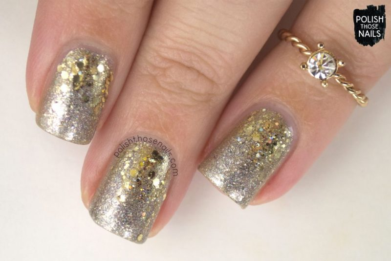 nails, nail art, nail polish, sparkle, indie polish, silver, gold, glitter, polish those nails