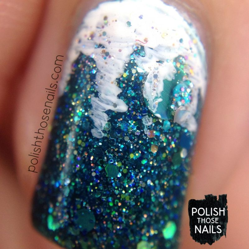 nails, nail art, nail polish, glitter, icicles, indie polish, polish those nails, macro