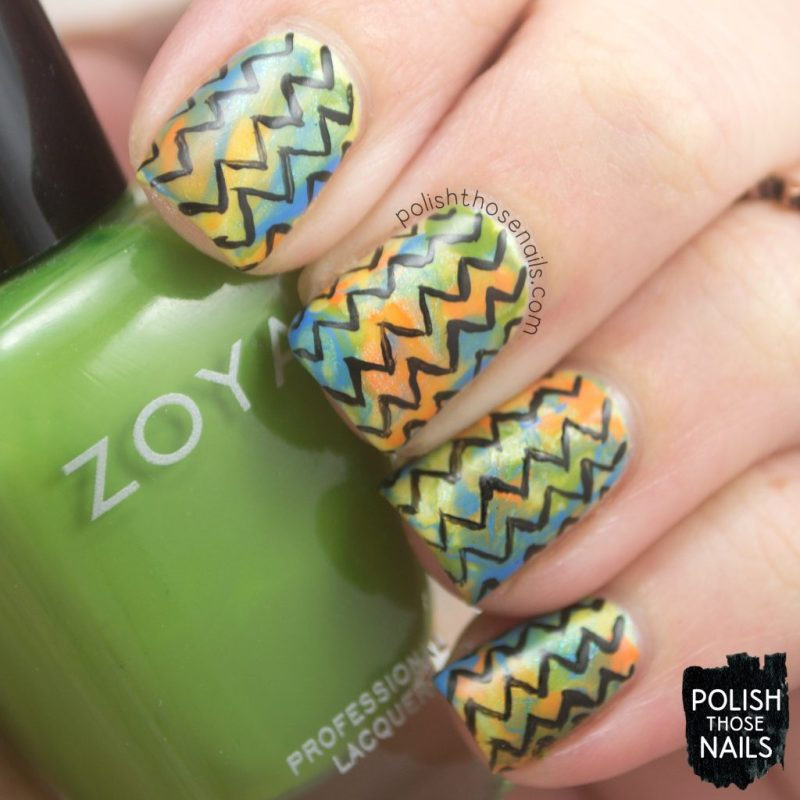 nails, nail art, nail polish, zoya, zig zags, smoosh, polish those nails