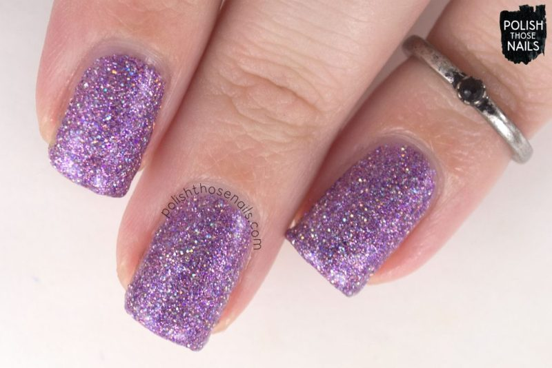 swatch, anniversary bling, purple, micro glitter, love angeline, indie polish, polish those nails, nails