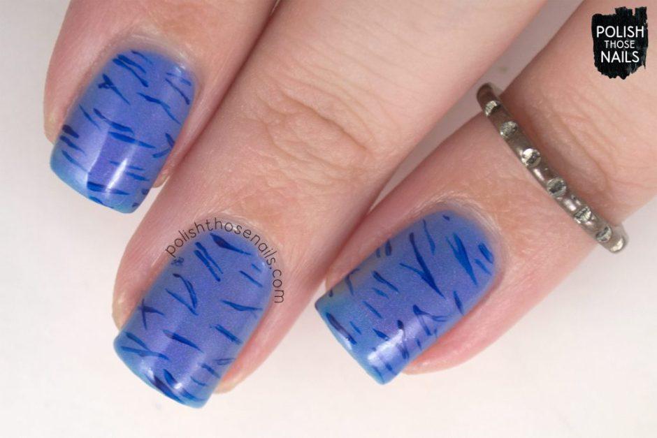 love angeline, nails, nail polish, indie polish, polish those nails, nail art, pattern, calm waters, shimmer