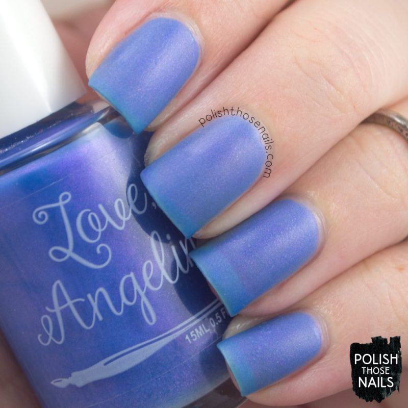 love angeline, nails, nail polish, indie polish, polish those nails, swatch, calm waters, shimmer, matte