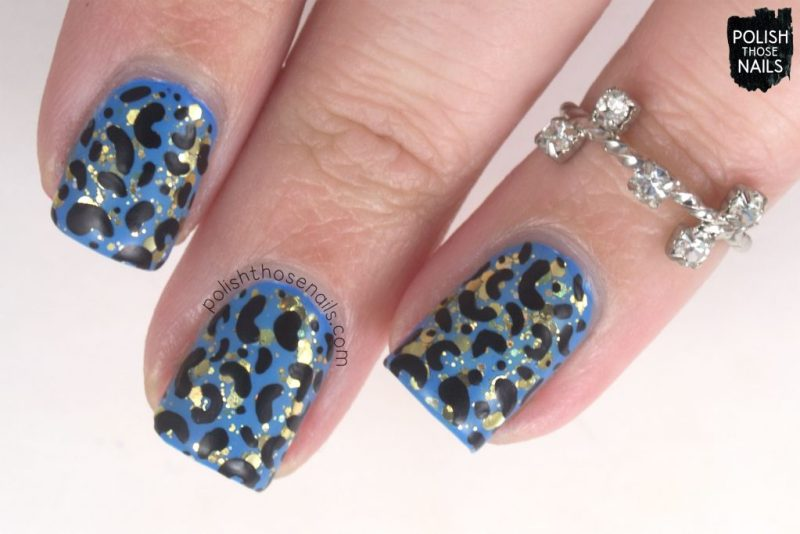 dancing fireflies, nail art, leopard, love angeline, polish those nails, indie polish, glitter,