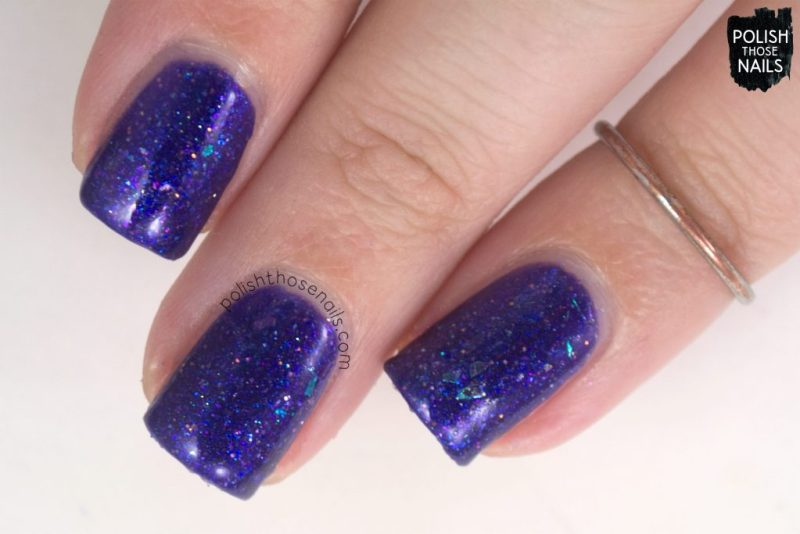 love angeline, nails, nail polish, indie polish, polish those nails, swatch, love abides, purple, glitter